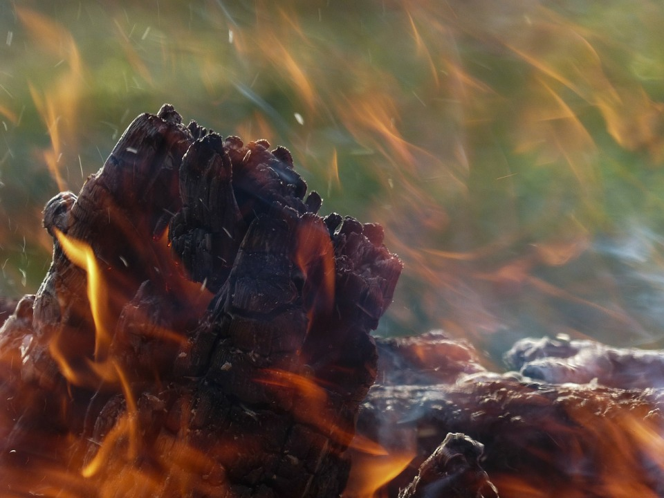 The raging fire within myself burns away the dross of my old self and releases the freedom of my new.